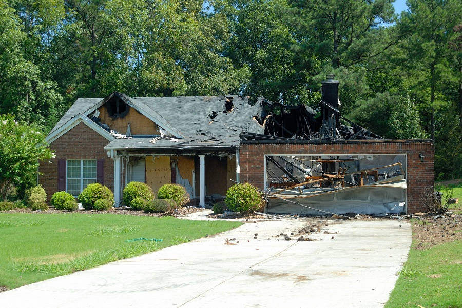 Damaged House after a Fire